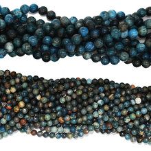 FH-JSG00140030 Natural Blue Apatite 8mm loose beads, dark Natural grain beads,natural Blue Apatite