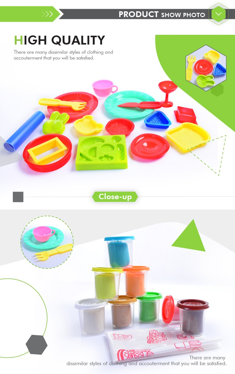 Baby Toys Diy Play Dough Modeling Clay With Western Breakfast