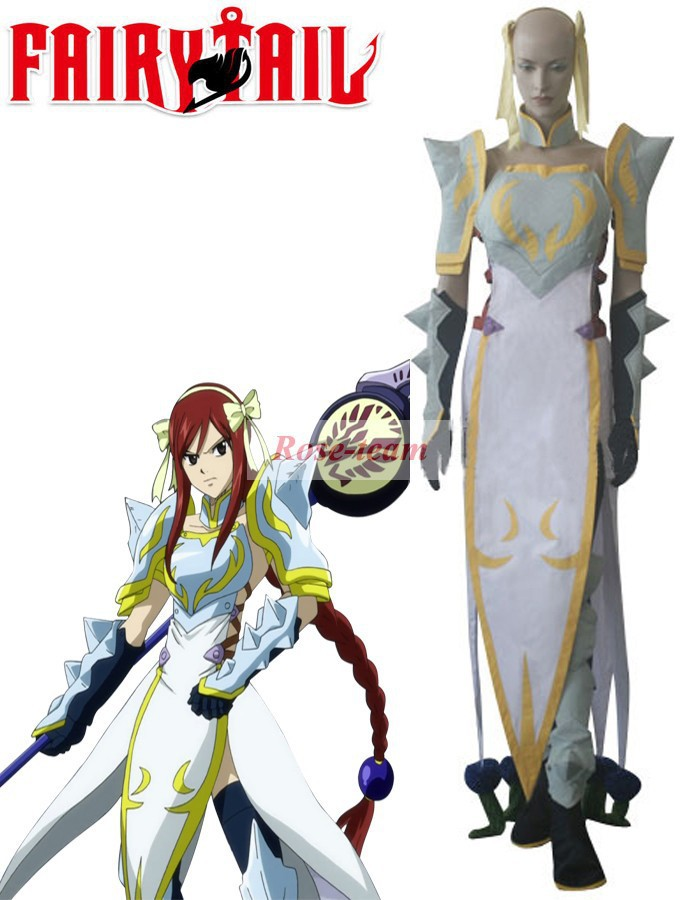 Sunshine-Fairy Tail Erza Scarlet Lightning Empress Armor Anime Cosplay Costume