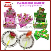 Halal Lighting Lolly Pop/Fluorescent Lollipop Candy