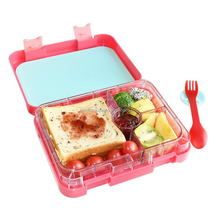Bento Box 4 Section Tray with Removable Lunch Storage Container 2 Buckles, Salad Box