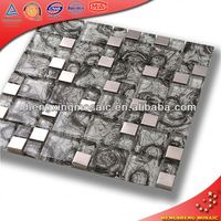 glass mosaic designs mosaic tiling eastern boulder wall glass tile listellos (AE39)