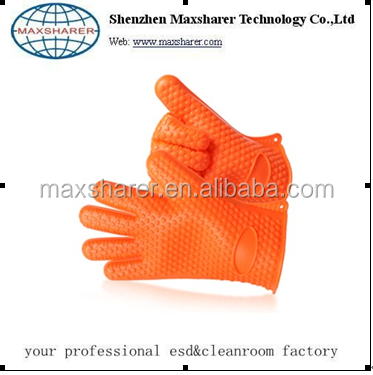 Wholesale high quality new non-slip five finger kitchen silicone glove ,two finger gloves