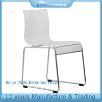 Custom White Acrylic Kitchen Dining Chairs for Handmade /Transparent Lucite Tiffany Plastic Chair