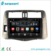 2 din capacitance touch screen free map car gps navigator android 6.0 car stereo for Toyota Prado 2010