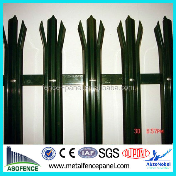 ISO 9001 D Section cold rolled palisade fencing