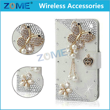 New Luxury Bling Shining Glitter Diamond Case Pu Leather Flip Cases For Lg K7 Wallet Cover With Stand