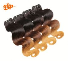 two toned color virgin malaysian human hair extension wholesale ombre malaysian remy hair weaving