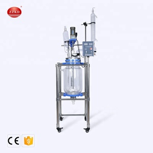 Lab Tubular Condenser Chemical Jacketed Glass Reactor