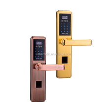 digital doorlock support finger print, IC card, password, key and App, zwave remote control electric door lock