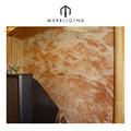 Background wall covering design Rose Tea turkey marble