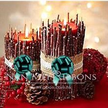 Celebrate Christmas Decoration Idea Plastic Ribbon Pull Bow Star Bow for Warm Xmas Candle Ligth Table Decoration Home Decoration