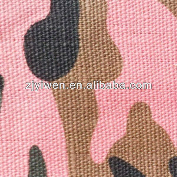 woven fabric industry base fabric allover pink camouflage canvas fabric for military tent, army garment, tactical clothing