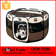 Dog Cat Fabric Portable Carrier Folding Crate Cage Pet Travel Foldable Cage 450088