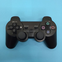 black wireless bluetooth six axis joystick controller for ps3 games