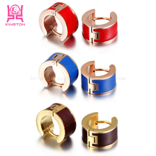 2017 trendy fashionable jewelry 316l stainless steel gold hoop earrings designs for women