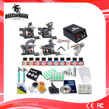 Wholesale tattoo kit 4 gun set liner & shader 10 USA inks
