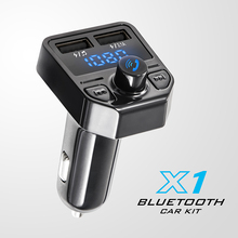 New Original Dual usb fast car charger car mp3 player blue tooth FM transmitter handsfree Car Kit X1