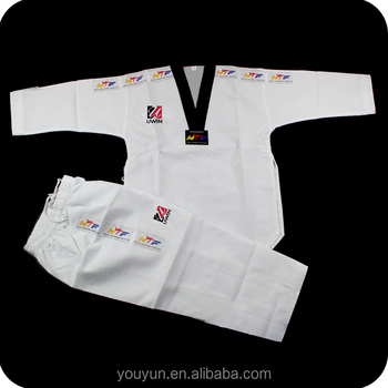 Taekwondo uniform 100% cotton 65% cotton 35% polyester for trainning