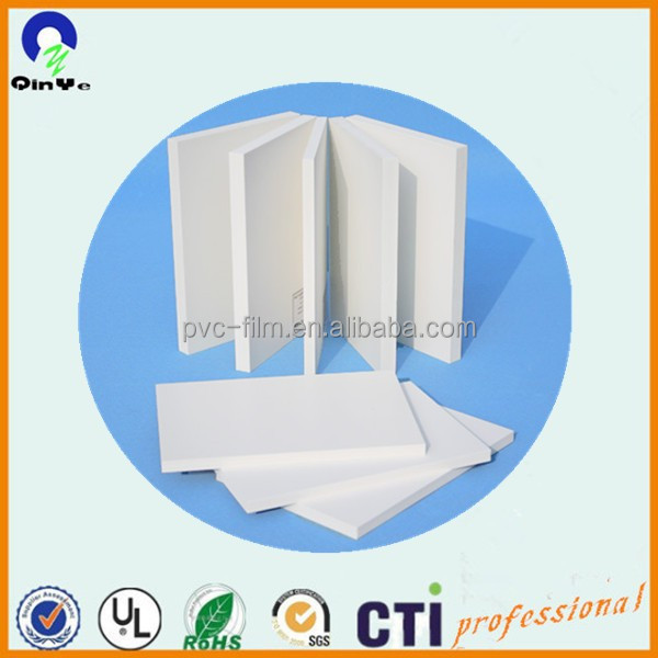 white pvc plastic foam board ,high hardness and density