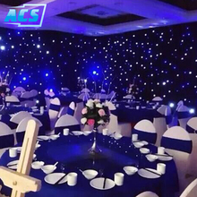 elegant party decorations LED Star Curtain and Drapes led display wall