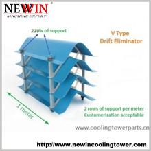 V Type PVC Cooling Tower Drift Eliminator 160mm Height