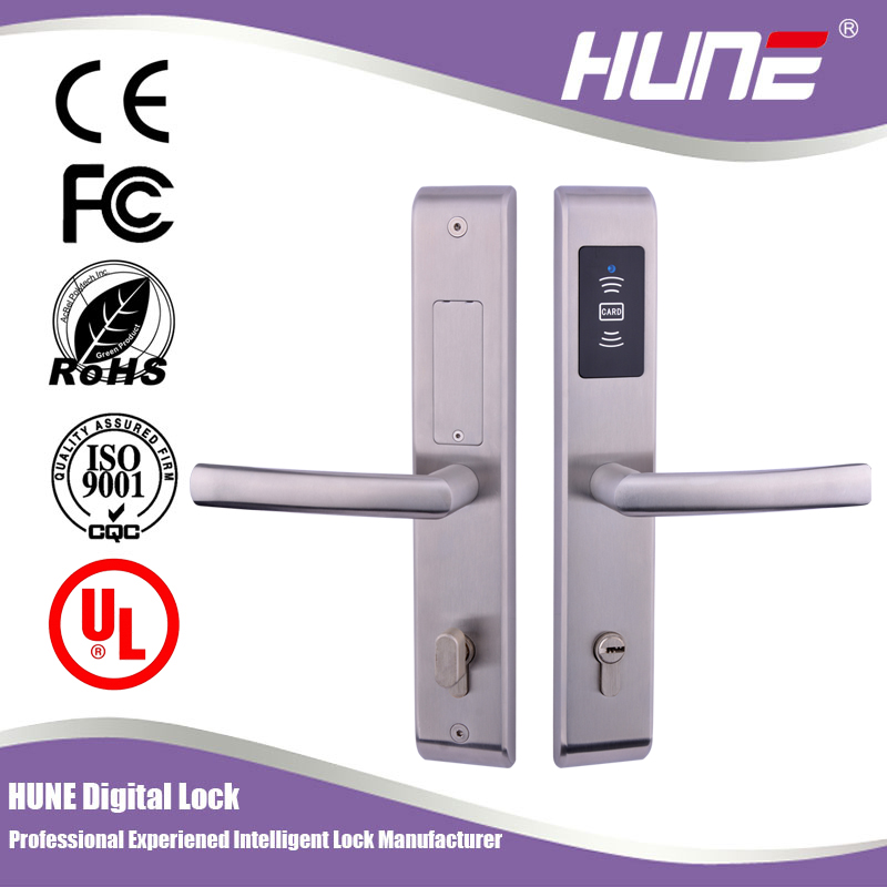 best brand rfid cylinder electronic card lock for hotel