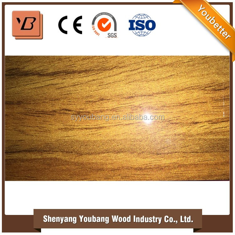 2016 High gloss laminate furniture uv mdf from china factory