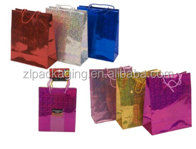 Medium Size Holographic Gift Bag - Assorted Colours - Pack of 3