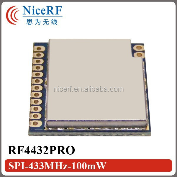 2015 RF4432PRO With Si4432 Chip -1~20dBm (1km Distance in Open Area) 433MHz Wireless Transceiver Module