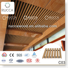 2018 Wooden composite exterior decorative ceiling 40*25mm decorative panel designer home decor China building materials supplier