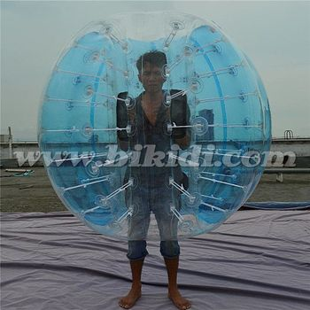 Half colored TPU bubble ball, bubby soccer bubble, bumper ball for adults D5102