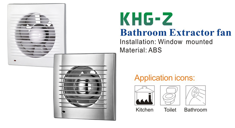 Bathroom industrial exhaust Fan with Pilot Light (KHG15-Z)