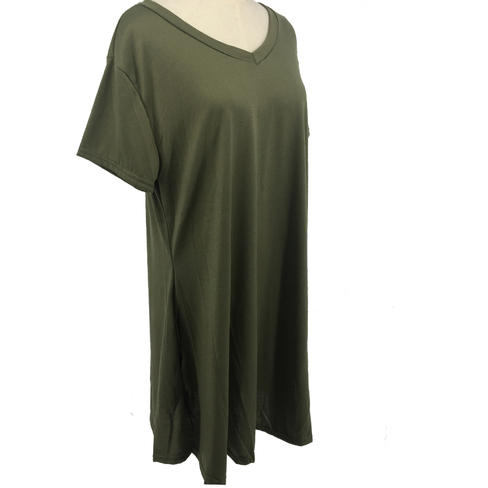 Ladies Tunic Tops Wholesale Plain Tunic Tops Short Sleeve Curved Hem Womens Long Tunics