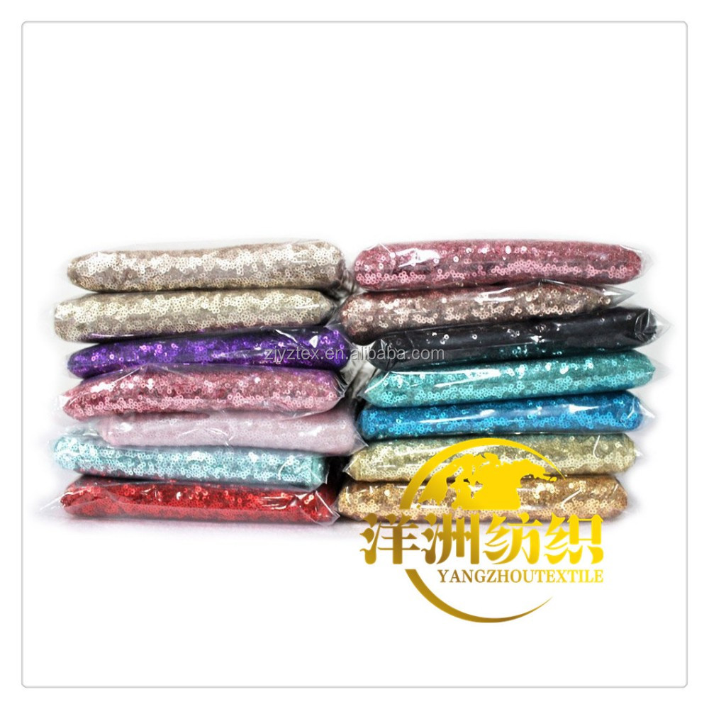 Hot sale fancy 100% polyester embroidery metallic sequen wedding silver sequin table cloth