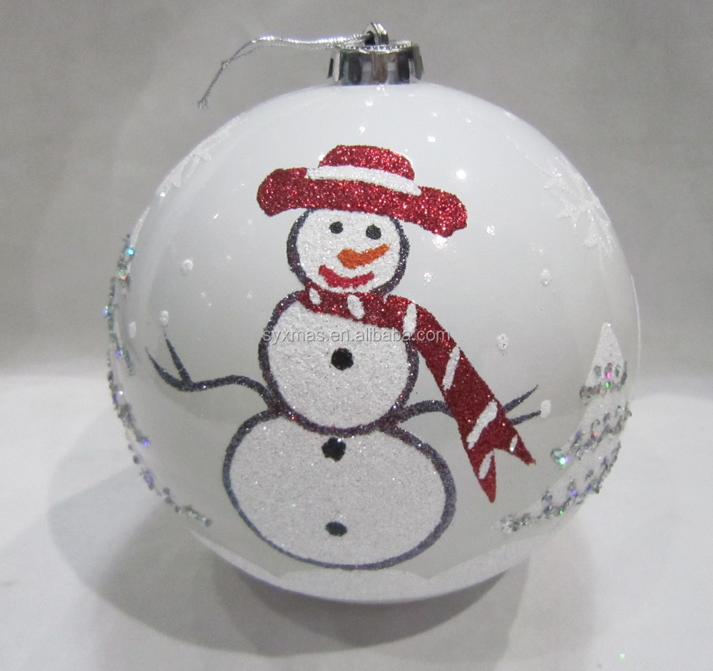 15cm Personalized plastic christmas Tree ornament with handpainted