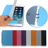 High Quality PU Leather Smart Cover Case for iPad Air2 , for iPad Air 2 Case Leather