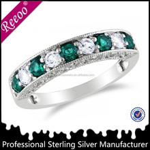 925 sterling silver fashion emerald ring wholesale diamond ring