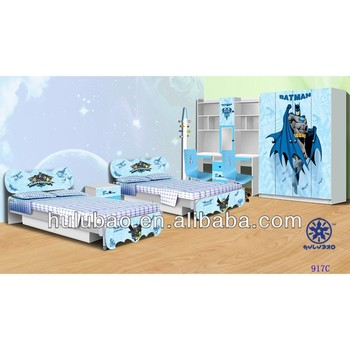 971C twins children bed/double kids bed/teens bed/colorful furniture photos in bedroom set furniture