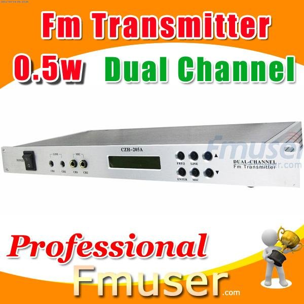 18FSN Dual Channel fm transmitter 0.5w radio station jingles