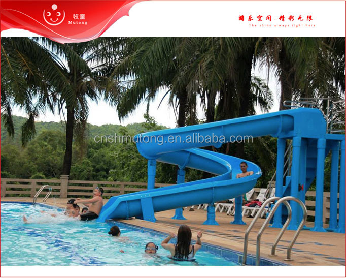 2017 Hot Water Slide Equipment, Water Slide Spiral Pool Equipment For Sale