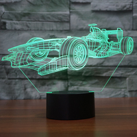 FS-3302 Racing Motorcycle Cool 3D Night Light Laed Lamps Led 3D Acrylic Led