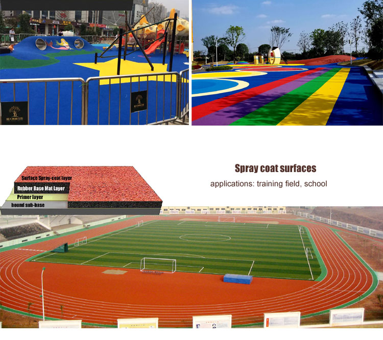 1-3mm EPDM granules rubber running track surface SBR crumb