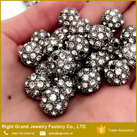 Wholesale Zinc Alloy Clear Crystal Pave Beads Jewelled