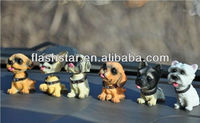 Hot sale decoration different kinds of resin dog head,promotional gfts