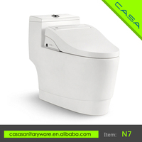China manufasaturer sanitary bathroom siphonic smart toilet, self cleaning kind of toilet