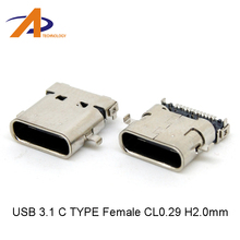 24pin reversible USB 3.1 Type C Female receptacle Socket Connector SMT type