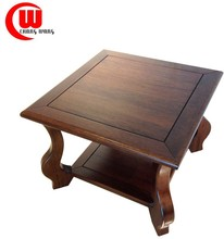 elegant full solid wood square side wooden coffee table
