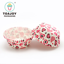 Wholesale Heart-shaped Paper packing cups Mini Cupcake Cases for cake tool