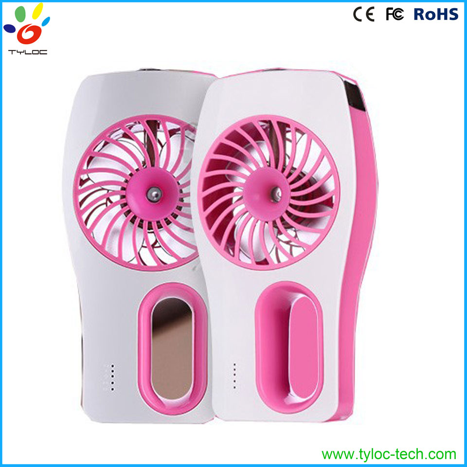 Portable cooling summer car usb humidifier mini fans